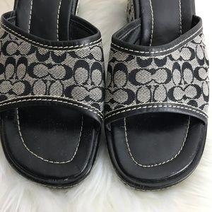 Coach Shoes - Coach Signature Connie Black Wedge Platform Shoe